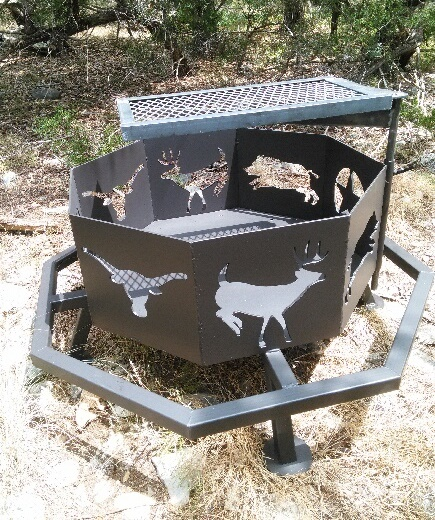 Texas Ranch Fire Pit - Matt's BBQ Pits, LLC And River Cottage Tables - Fire Pits